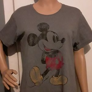 Disney store gray vintage looking graphic t-shirt